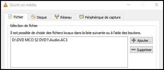 Fichier AC3 dans la liste des éléments à convertir
