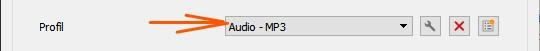 Profil Audio - MP3 VLC