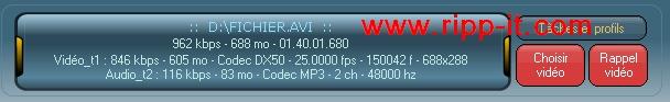 Infos fichier AVI